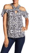 Angie Cold Shoulder Printed Blouse