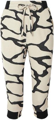 Twenty Montreal Hyper Reality Cropped Cotton-blend Jacquard-knit Track Pants