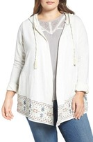 Democracy Plus Size Women's Embroidered Hoodie