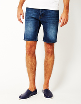 Cheap Monday Line Shorts Echo Blue
