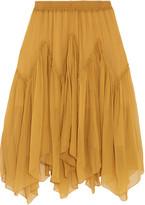 Chloé Silk-crepon skirt