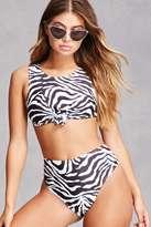Forever 21 FOREVER 21+ Motel Zebra Bikini Bottoms