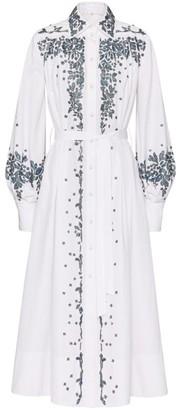 Valentino Embellished Cotton Shirt Dress
