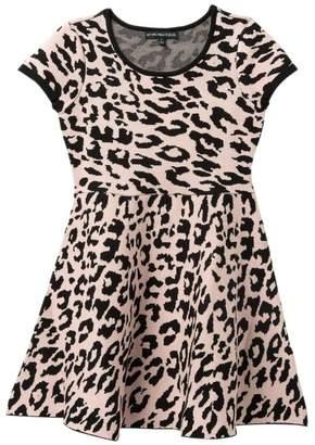My Michelle mymichelle Leopard Print Sweater Dress (Big Girls)