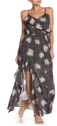 Billabong Hot Night Ruffle Trim Sleeveless Maxi Dress