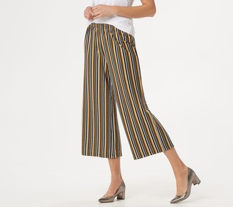 Joan Rivers Classics Collection Joan Rivers Petite Pull-On Striped Cropped Pants