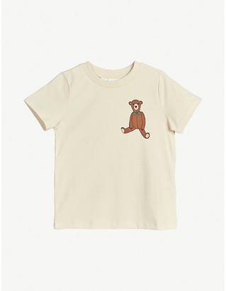 Mini Rodini Teddy Bear patch-embroidered organic cotton T-shirt 4-11 years