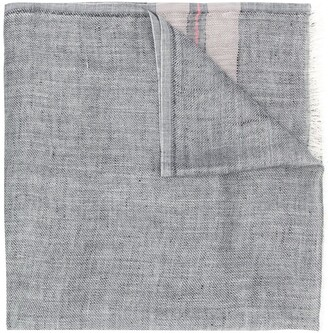 Brunello Cucinelli frayed striped scarf