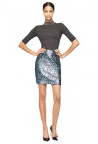 Milly Exclusive Diamond Jacquard Modern Mini Skirt