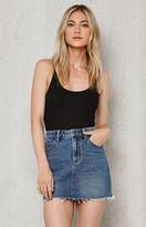 PacSun Frayed Denim Mini Skirt