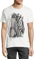 Just Cavalli Psychedelic Logo T-Shirt