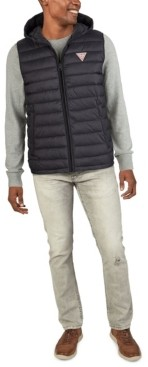GUESS Men's Channel Quilt Puffer Vest Jacket