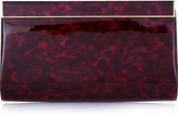 Jimmy Choo Cayla printed patent-leather clutch