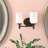 Laurèl Bonneau 2-Light Vanity Light Foundry Modern Farmhouse
