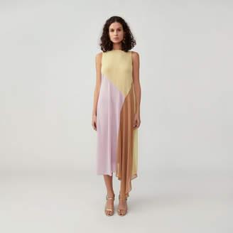Fame & Partners Color Block Panel Dress