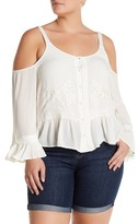 Jessica Simpson Jenna Cold Shoulder Blouse (Plus Size)