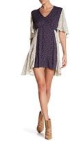 Anama Split Flutter Sleeve Floral Print Dress