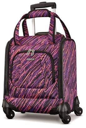 "American Tourister 16.5"" Avatar Carry On Underseater Spinner Suitcase - Scribbler Purple"