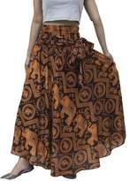 Lofbaz Womens Bohemian Long Hippie Elephant Orange