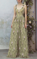 Luisa Beccaria Embroidered Sleeveless Full Length Dress