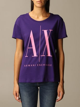 Armani Exchange Icon Over Logo Half Sleeve Crewneck