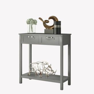 Overstock Gymax Accent Console Table Entryway Sofa Foyer Table Storage Shelf W/2