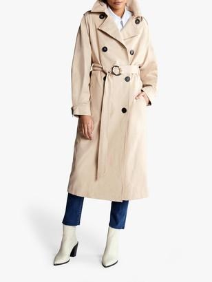 Mint Velvet Pleated Sleeve Long Trench Coat
