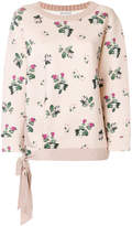 Moncler floral embroidered sweater