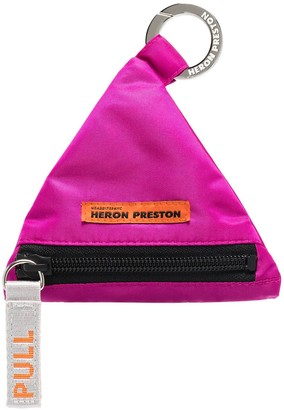Heron Preston Triangular Keyring Charm Wallet