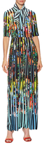 Mary Katrantzou Acti Silk Printed Maxi Dress