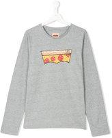 Levi's Kids - pizza print sweatshirt - kids - Cotton/Polyester - 14 yrs