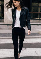 J Brand Aiah Leather Jacket In Black
