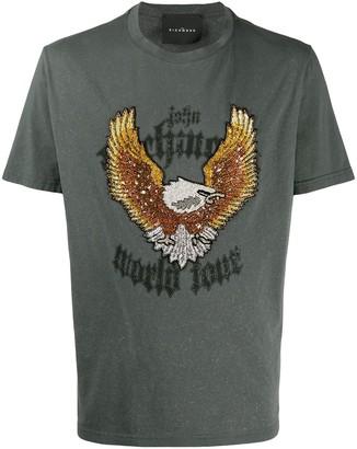 John Richmond beaded-eagle cotton T-shirt