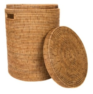 Artifacts Trading Company Rattan Round Hamper with Lid