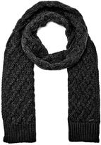 Michael Kors Cable Knit Scarf Black