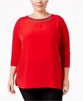 Calvin Klein Plus Size Embellished Sweater