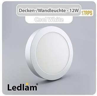 Ledlam A + LED Recessed Light, Aluminium, Silver, Integriert 12W 220V