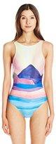 Mara Hoffman Women's Landscape Scoop-Back One-Piece Swimsuit
