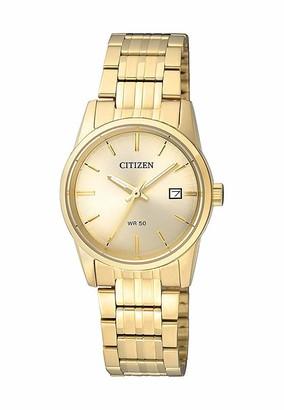 Citizen Womens Analogue Quartz Watch with Stainless Steel Strap EU6002-51P
