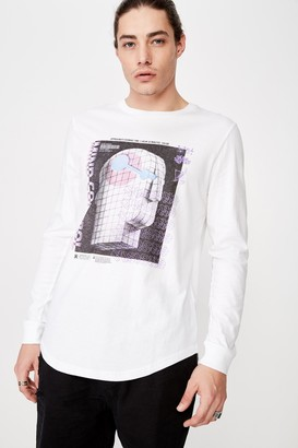 Factorie Curved Long Sleeve Graphic T Shirt
