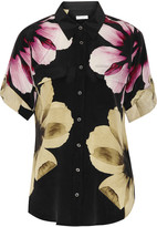 Equipment Slim Signature floral-print silk top