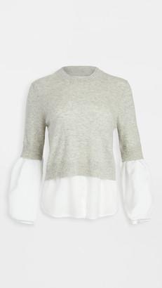 Brochu Walker Ebbi Layered Crew Looker Sweater
