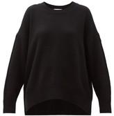 Allude Round Neck Cashmere Sweater - Womens - Black