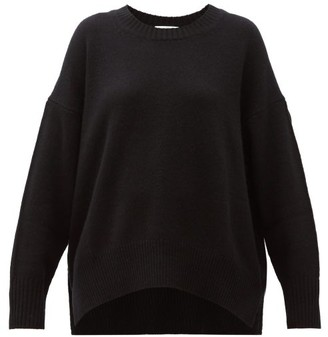 Allude Round Neck Cashmere Sweater - Womens - Black