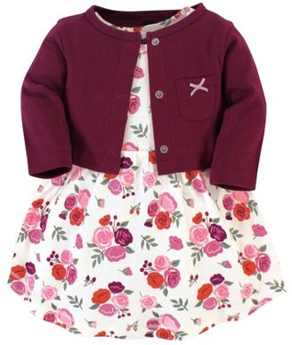 Hudson Baby and Toddler Girl Dress & Cardigan, 2pc Outfit Set
