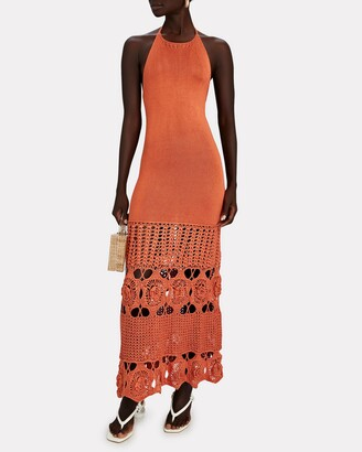 Alexis Carina Crochet-Trimmed Knit Maxi Dress
