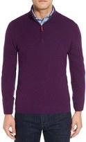 Nordstrom Men's Regular Fit Cashmere Quarter Zip Pullover