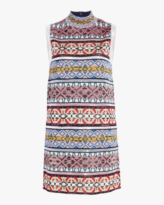 Missoni Jacquard And Sequin Paneled Sleeveless Dress