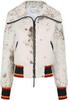 Marco De Vincenzo Beige Cow Print Shearling Jacket