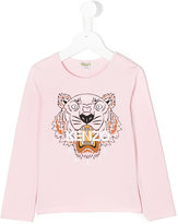 Kenzo tiger printed longsleeved T-shirt - kids - Cotton/Spandex/Elastane - 2 yrs